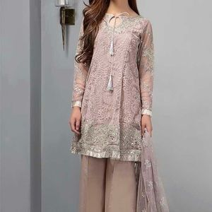 Other - Maria B small  net beige/gray suit